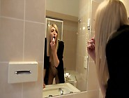 Slutty Blonde Puts Makeup On Her Face Before She Fucks