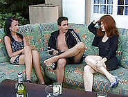 Buxom Redhead Invites Her Friend Offer For A Kinky Ffm Threesome