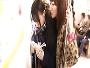 Another Young Cute Japanese Girl Is Molested By 2 Lusting Milfs.