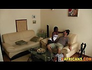 Slutty Amateur Ebony Girlfriend Rides Big Hard White Penis On A