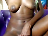 Hot African Chick Fingering Her Creamy Pussy