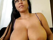Lovely Ebony Huge Boobs Milking