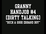 Dirty Talking Granny Handjob