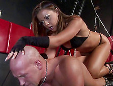 Horny Senorita With A Strap-On Stiffs The Asshole Of Her Male Pa