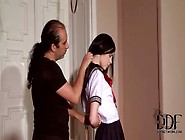 He Puts Submissive Schoolgirl Into Rope Bondage