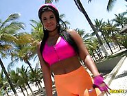 Rollerblading Latina Beauty Aline Rios Getting Her Ass Smashed I