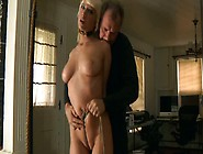 Suspended Blonde Cherry Suffocation Scene