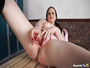 British Girl Fucks Her Shaved Twat And Talks Dirty