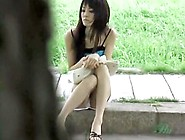 Sharking Video With Asian Cutie In The Park