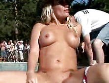 Shameless Lesbian Sex At Outdoors Event