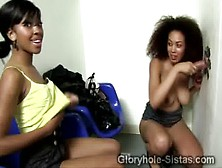 2 Gorgeous Sista Share A Huge White Piece Stuck In A Hole On The