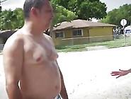 Threesome Interracial Cops Blowjob Fuck Bbc Outdoor