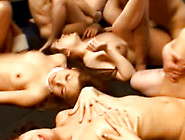 Four Dirty Girls In A Wicked Gang Bang