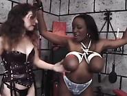 Huge Boob Black Slave Gets Them Tied Up And Tortured,  Then Gets
