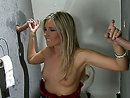 Cherry Jul Plays With Gloryhole Cocks And Enjoys A Gangbang