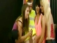 Four Girls Giving A Cfnm Blowjob