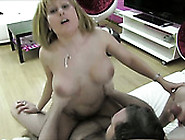 Big Breasted Blond Mommy Enjoys Hot Threesome With Her Next Door