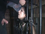 Captured In A Cage Marina Gives Blowjob To Her Merciless Master