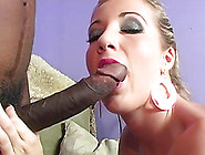 Huge Black Cocks Make This White Girl Cum Her Brains Out
