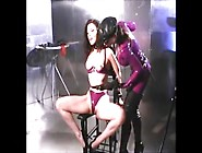 Kinky Dominatrix Playing With Her Slave