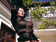 Nylon Queen Anett Larmann In Pantyhose