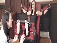 Brunette Bitch Gets Tied Up And Gets Her Feet Tickle Tortured,  S
