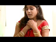 Hot Indian Bhabi In Indian Red Sari