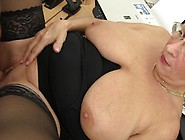 Blonde German Granny Loves Dirty Office Sex