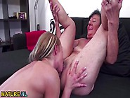 Granny Rimmed Out By A Sexy Young Chick