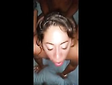 Latina Provides Enjoyment To 2 Black Rods That Are Large