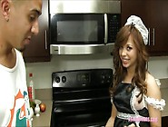 Teen Maid Aurora Monroe Cleaning A Big Cock With Her Pussy