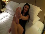 Hope Howell Teases Pussy And Feet In Hotel Room
