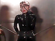 Latex Slave Cries During Her Beating