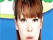 Japanese Bukkake Newscaster