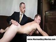 Older Gay Mormon Spanks And Masturbates Young Guy