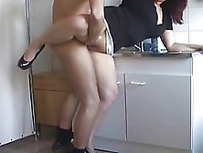 Chubby Woman Is Sucking Her Plumber's Dick Because She Does