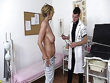 Mature Lady With A Full Bush And Saggy Tits Gets Doctors Treatme