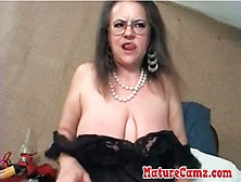 Saggy Tits Granny Masturbates
