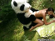 Tight Slender Teen Trying To Fit A Huge Panda Cock In Her
