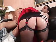 Black Stockings Wearing Girl Sucked Her Partner Big Dick