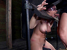 Masked Dame Face Fucked Roughly Then Tortured In Bdsm Porn