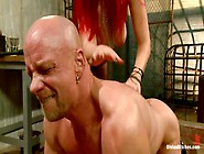 Mz Berlin Dominates Chad Rock And Hurts His Cock And Balls