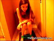 Hot Sexy Lady Pooping And Farting On Toilet