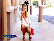 Lauren Cute Amateur Blonde Flashing And Walking Naked In Public
