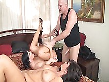 Classy Brunettes,  India Summers And Alison Tyler Are Having A Th