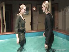 2 Girls Wet Indoor Pool