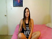 Latina Teen Dildos Her Pussy On Webcam And Gets Creamy