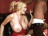 Big Black Dick Plunges Into Her Wet Mommy Pussy
