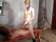 Penis Insertion With Cumshot Through Handjob