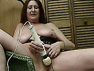 Horny Mature Woman With Huge Saggy Tits Loves Her Hitachi Wand